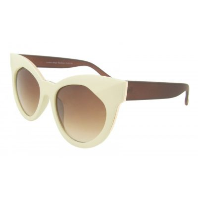 classic beige/creme large cat-eye sunglasses