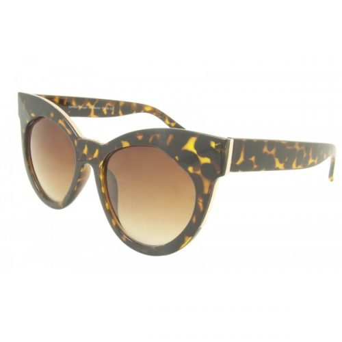 leopard print large cat-eye sunglasses