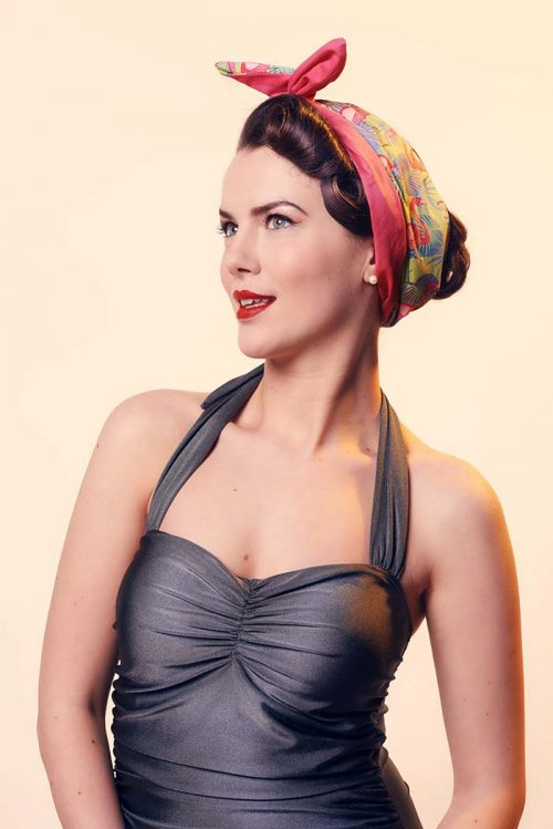 pink flamingo print head scarf; double sided head scarf; flamingo head scarf; gingham head scarf