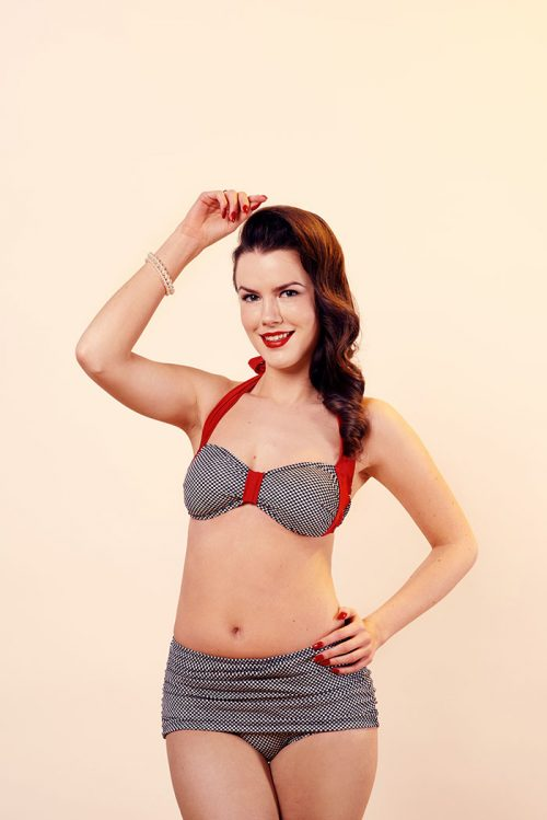 high waist retro 50s bikini bottoms pants