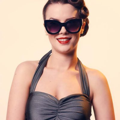 black butterfly sunglasses large